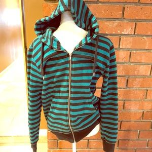 Other - Nice warm sweater black and  blue green strip. Sm.